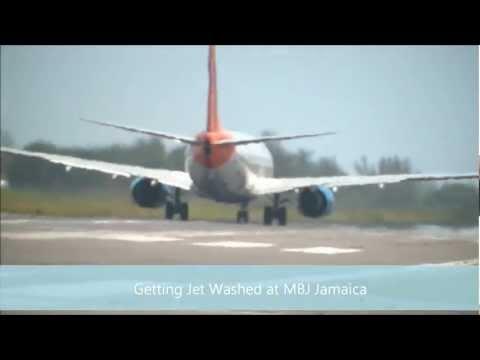 Getting Jet Blasted at Donald Sangster International Airport  Montego Bay Jamaica (MBJ)