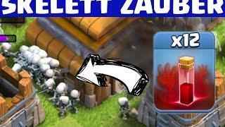 12 SKELETT ZAUBER AUF EIN RATHAUS!    CLASH OF CLANS    Let