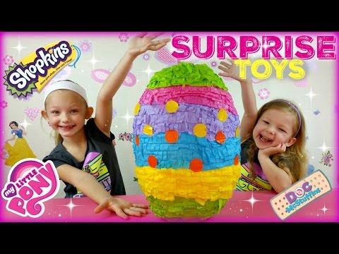 BIGGEST SURPRISE EGG Ever! Surprise Toys Eggs Shopkins My Little Pony Doc McStuffins Palace Pets