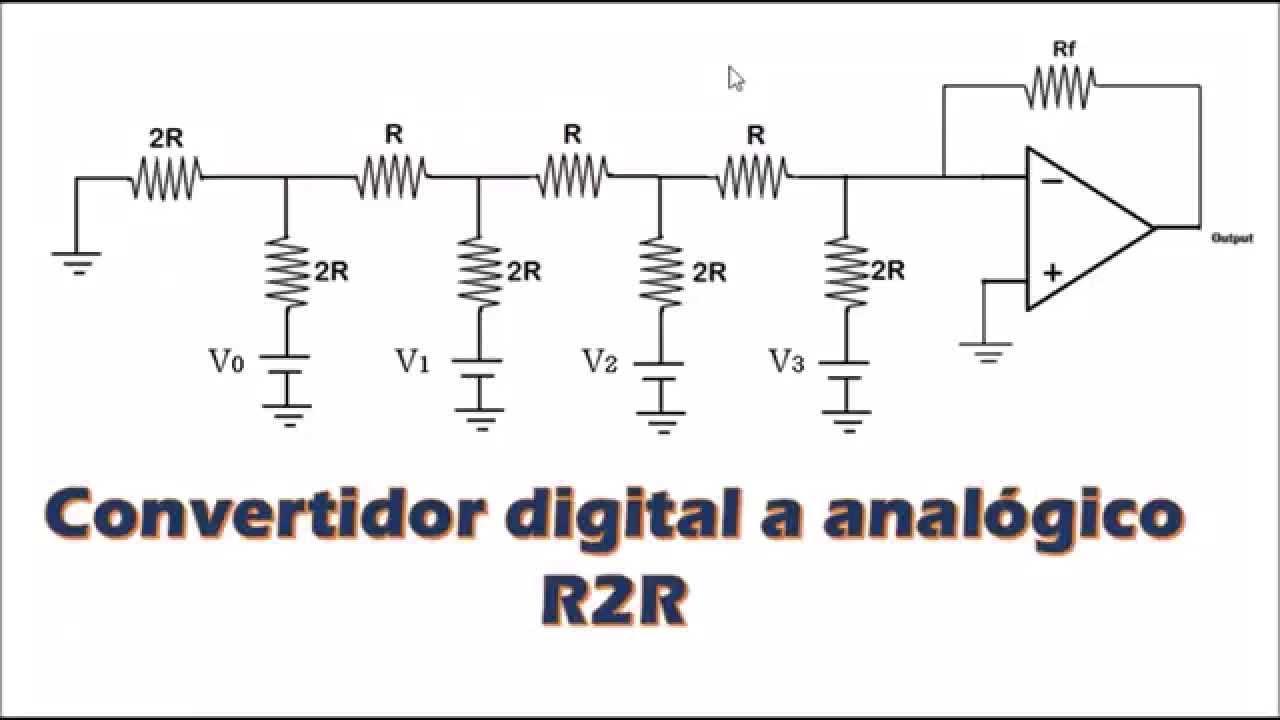 R 2r ladder dac circuit diagram