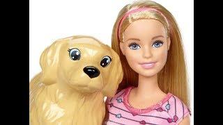 Видео! Распаковка куклы Барби с собакой и щенятами!