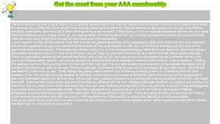 How to : Get the most from your AAA membership