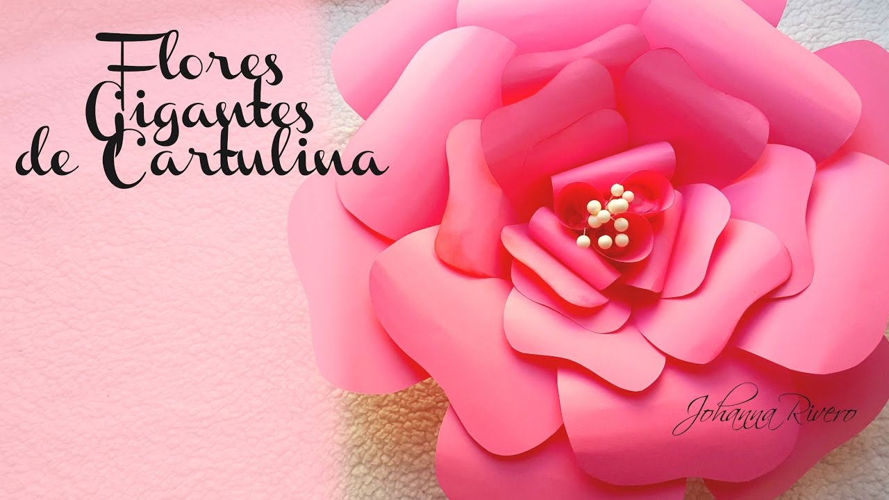 Mesa Dulce Paso A Paso 1er Paso Fondo Con Flores De Cartulina Rosa