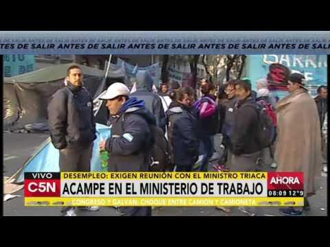 C5N - Sociedad: Acampe frente al Ministerio de Trabajo de la Nación (Parte 2)