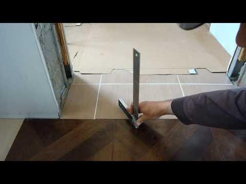 Самый простой и правильный СТЫК ламината и плитки. Сопряжение ламината с плиткой ...