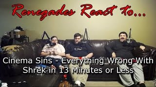 Renegades React to... Cinema Sins - Everything Wrong With Shrek in 13 Minutes or Less
