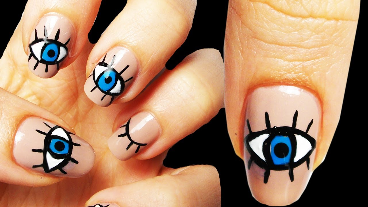 Eye Occhio Nail Art Tutorial - YouTube