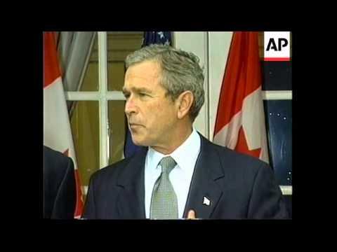 Bush meets Canada's Chretien