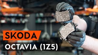Replacing Brake pad set disc brake on SKODA OCTAVIA: workshop manual