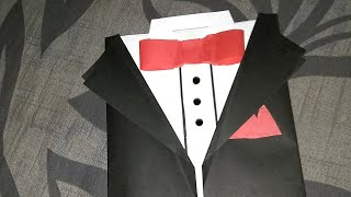 DIY Suit-Tuxedo Greeting Card Tutorial | How To Make Greetings | Father's day | How To Craft