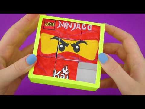 Lego Ninjago Paper Game Transformer DIY | Barley-break Tutorial