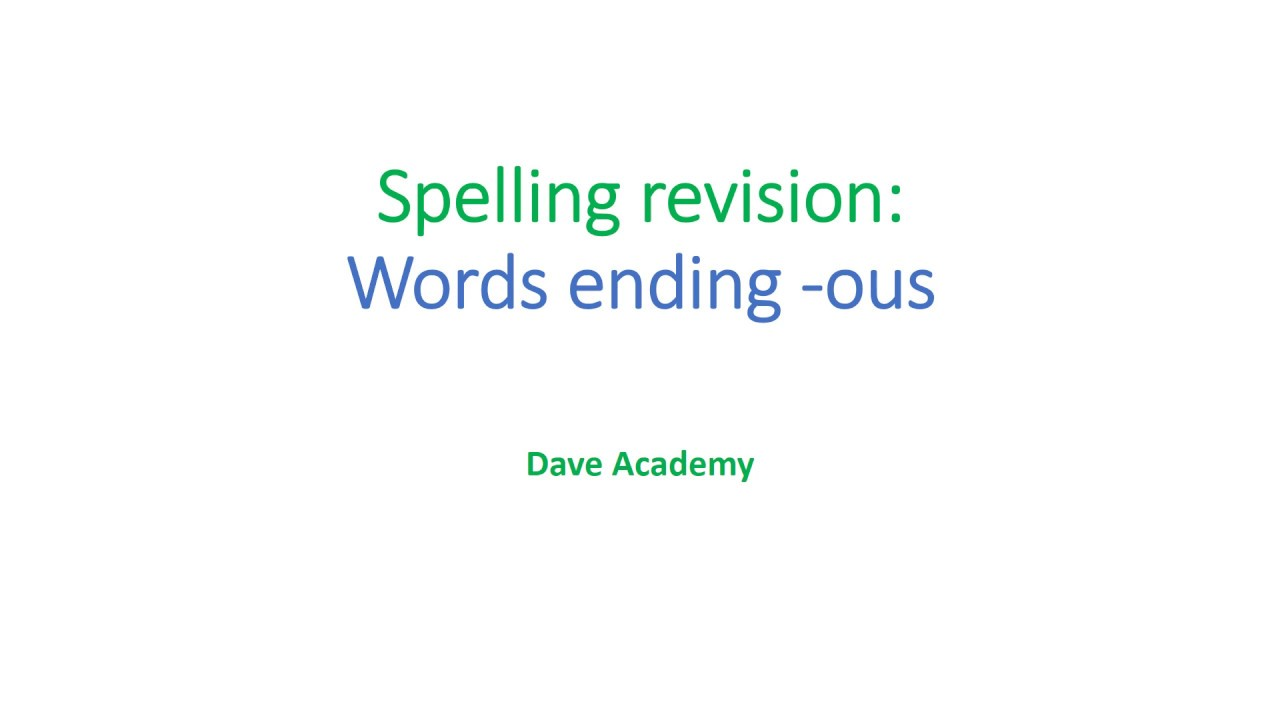 Worksheet Ible Words spelling revision for words using ous youtube ous