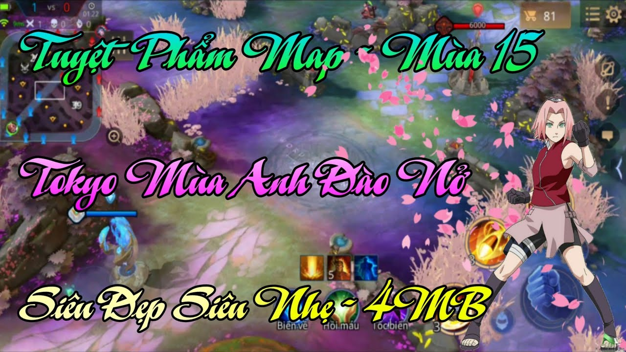 Fix Lag Liên Quân - Mod Map Hoa Anh Đào Mùa 15 Siêu Đẹp Siêu Nhẹ 4MB, Tokyo Mùa Hoa Nở | AOV Sakura