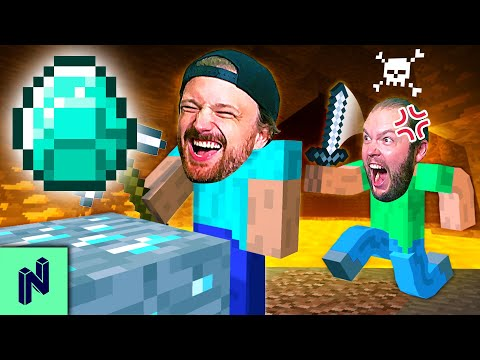 DIAMOND RACE: First to Find a Diamond is the MINECRAFT GOD!