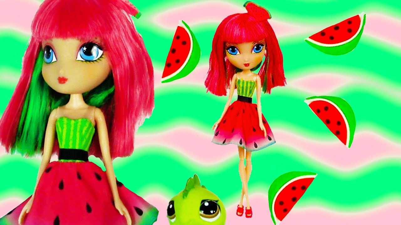 La dee da watermelon juicy crush fashion doll toy review opening