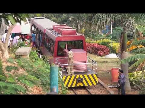 Tourist train on kailasagiri hills Amazing