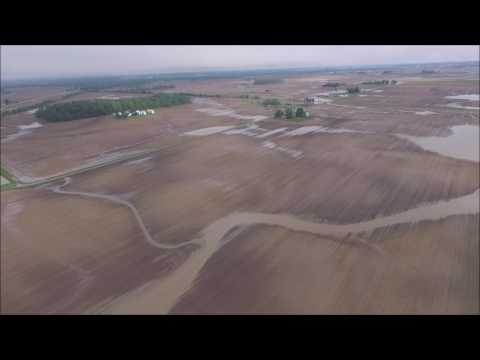 FLOODING FROM MAY 24-25TH, 2017 COTTAGE GROVE, INDIANA DRONE VIDEO