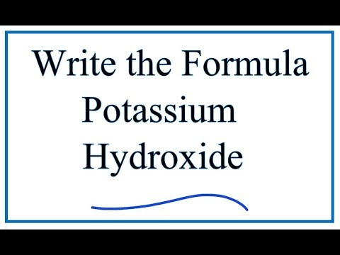 Writing the formula for potassium hydroxide youtube writing the formula for potassium hydroxide urtaz Image collections