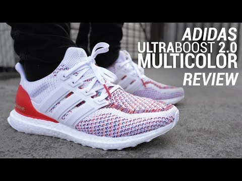 hot sale online 90fcb 2e8ea ADIDAS ULTRABOOST 2.0 MULTICOLOR RE-RELEASE REVIEW   ON FEET - YouTube