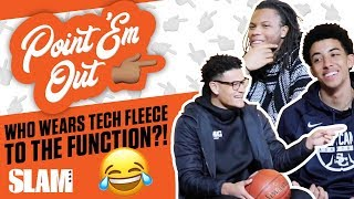Nike Tech Fleece to the Function?! High School Hoopers Talk Drip 💧 | SLAM Point 'Em Out