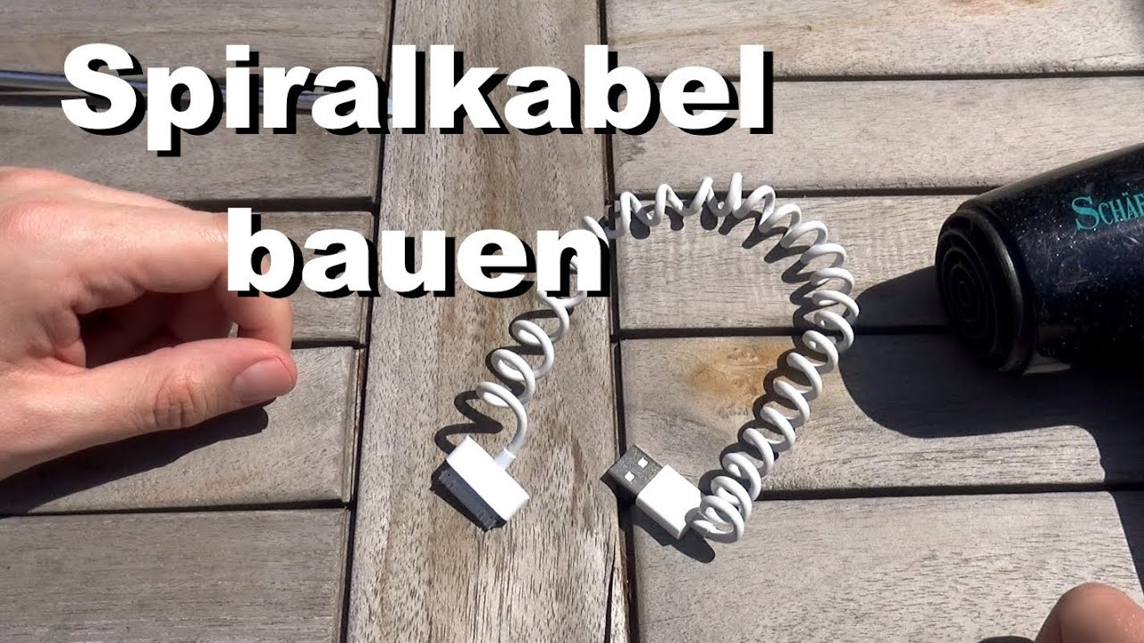 spiralkabel selber machen iphone android htc ladekabel trick youtube. Black Bedroom Furniture Sets. Home Design Ideas