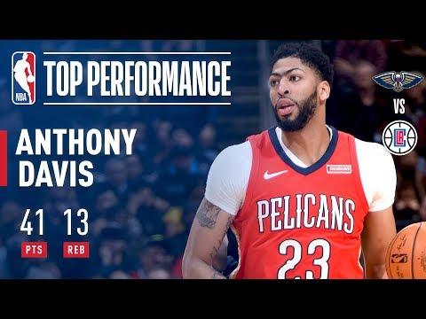 Anthony Davis Puts Up 41/13 in L.A!