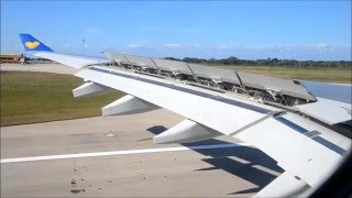 Thomas Cook Airbus A330 approaching and landing at Varadero airport in Cuba streaming
