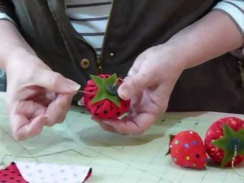 Strawberry Pin Cushion How Delicious Quilting Tips