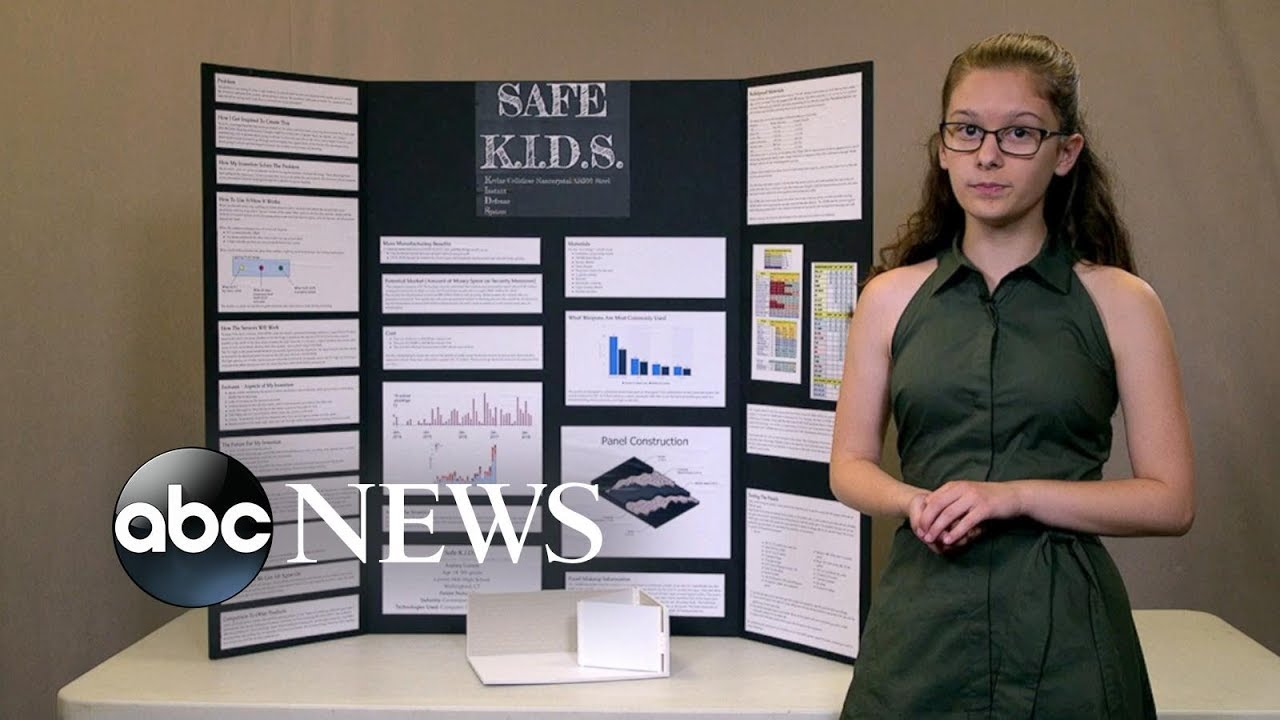 This student invented a bulletproof wall to protect from school shootings