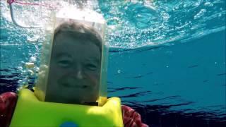 Testing my 1976 Aqua Bell dive helmet in a pool