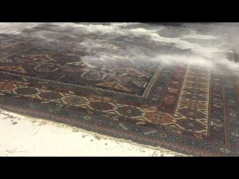 Cleaning a Turkish rug