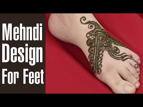 Creative Band Style Mehndi Design For Foot 2015