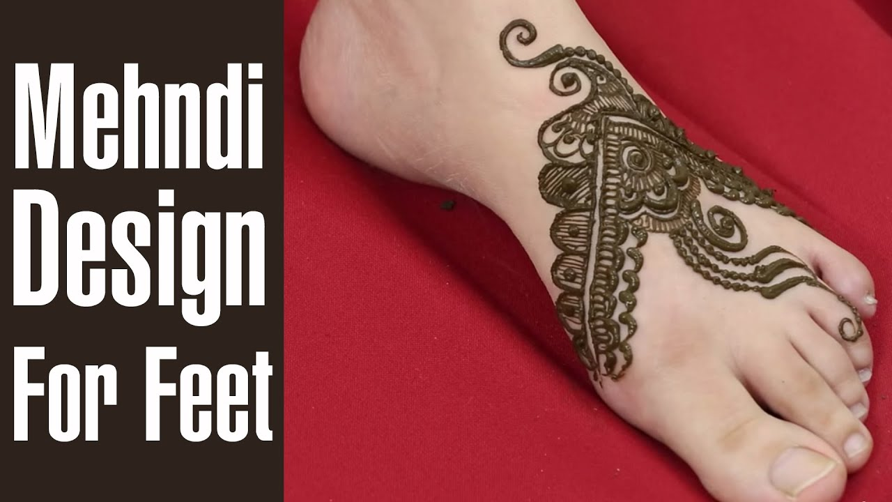 Mehndi Designs Feet N : Creative band style foot mehndi designs youtube