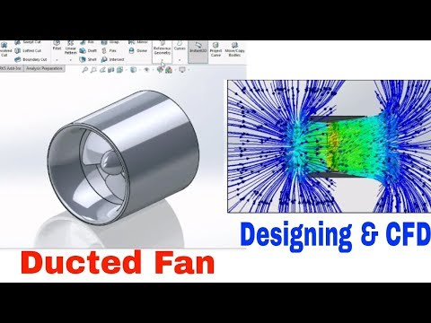 Ducted propeller designing and CFD in solidworks (tutorial) 720p