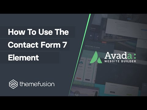 How To Use The Contact Form 7 Element Video