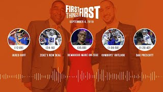 First Things First Audio Podcast(9.04.19) Cris Carter, Nick Wright, Jenna Wolfe | FIRST THINGS FIRST
