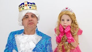 Nastya and dad dress up at the ball