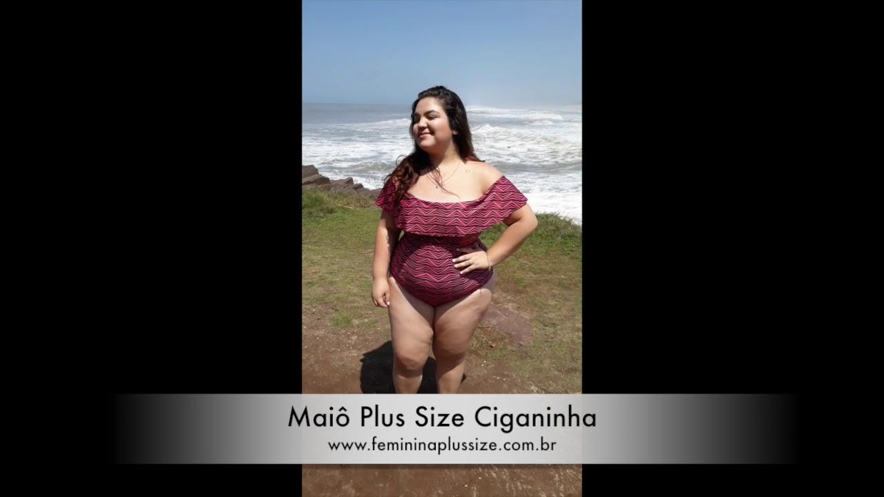 4d204ba36 Maiô Plus Size Ciganinha Zig Zag Rosa e Preto - YouTube