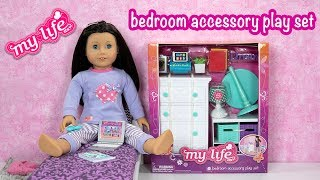 Unboxing My Life As Bedroom Accessory Playset with AG Doll Luna Midnight