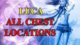 Final Fantasy X HD Remaster - All Chest Locations - Luca