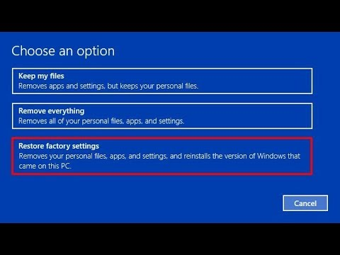 does factory reset delete everything windows 10
