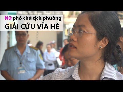 Chủ tịch phường xinh đẹp gõ cửa đòi vỉa hè lúc sớm tinh mơ giữa Sài Gòn