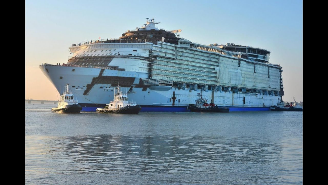 Harmony Of The Seas The Float Out Tour YouTube - How can cruise ships float