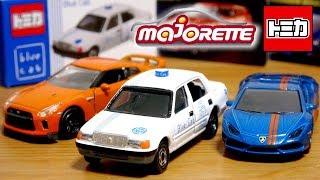 トミカとたまにはマジョレット☆blue cab トヨタコンフォートタクシー・GT-R・ランボルギーニ ウラカン 食玩でこれ最高☆