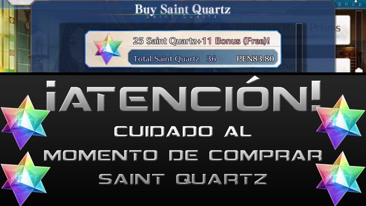 [Fate/Grand Order] - Cuidado al momento de comprar Saint Quartz