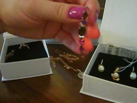 Покупка  золотых украшений с телемагазина Ювелирочка.(набор серьги и кольцо, 2 цепочки и подвеска).