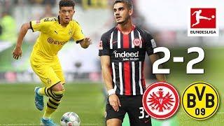 Sancho's Record Goal & Bvb's Late Own Goal I Eintracht Frankfurt Vs. Borussia Dortmund I 2 2