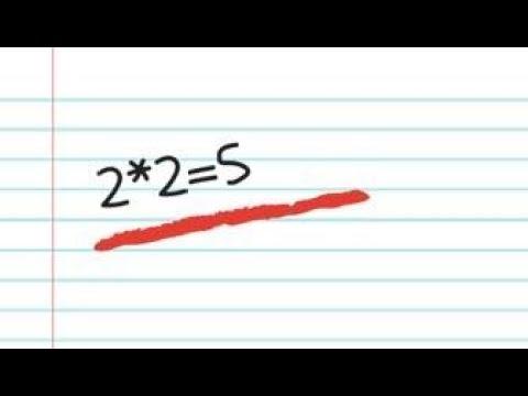 2*2=5? Математический фокус (Два умножить на два равно пять)