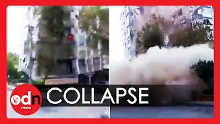 Turkey Earthquake: Terrifying Moment Building Collapses