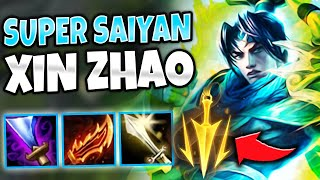 SUPER HEALING ON-HIT XIN ZHAO MID! HILARIOUS 3.5 ATTACK SPEED! - League of Legends